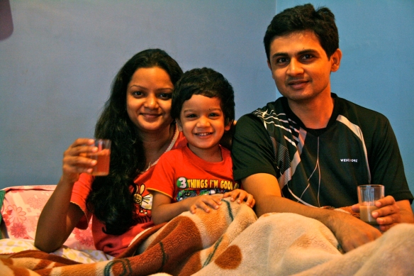 Picture of Bhaven, Rashmi and Aarav that appeared in the Dec 2011 issue of Outlook Traveller magazine under 'Goodyear Tyre Travelogue' competition