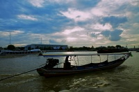 Long tail boat on the Chao Phraya river