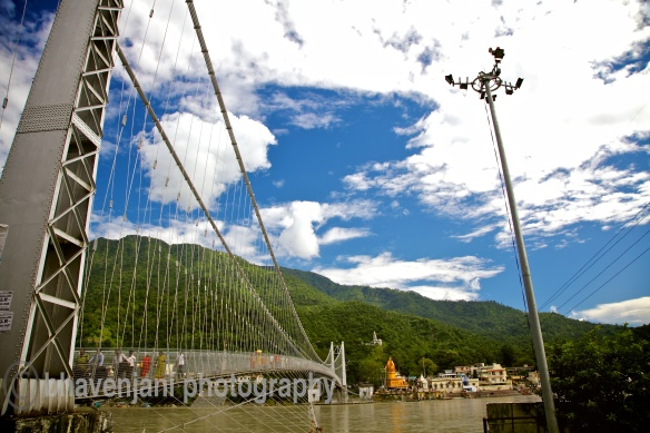 View of Ram hula from the Western side of the Ganges in Rishikesh