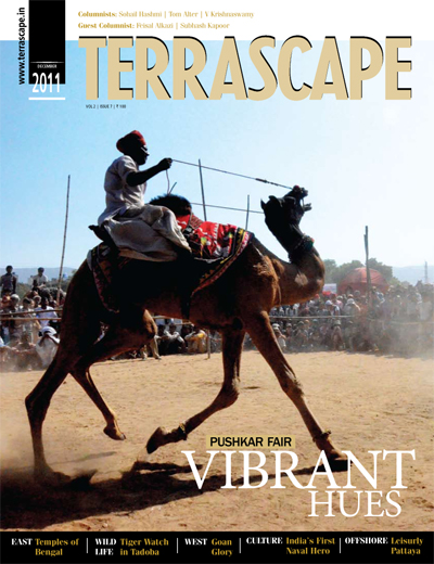 Cover page - Dec 2011 issue of Terrascape magazine refers to my article 'Leisurely Pattaya' at bottom right under the 'Offshore' section
