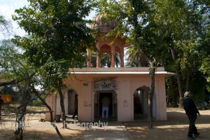 View of the Shiva temple inside Bharatpur bird sanctuary