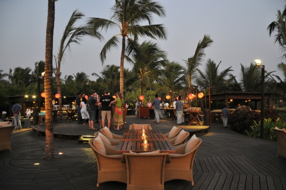 Dinner setting at The Palms - open air restaurant at Park Hyatt Goa