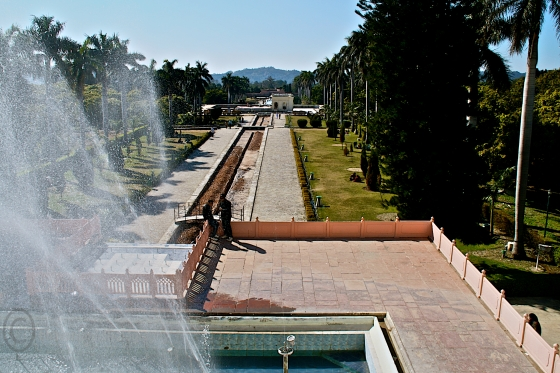 The famous Pinjore gardens outside Chandigarh and on the way to Shimla