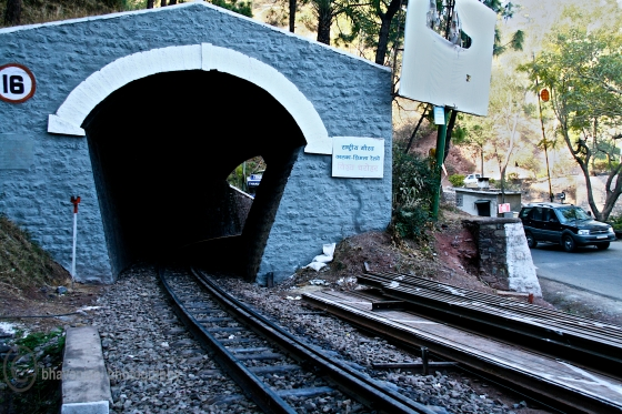One of the several tunnels you'll encounter while driving up to Shimla
