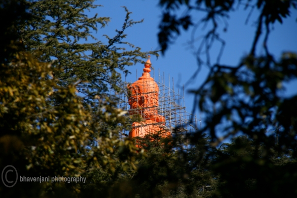Head of the Hanuman statue at Jakhoo temple in Shimla