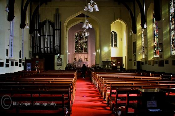 Inside Christ Church in Shimla