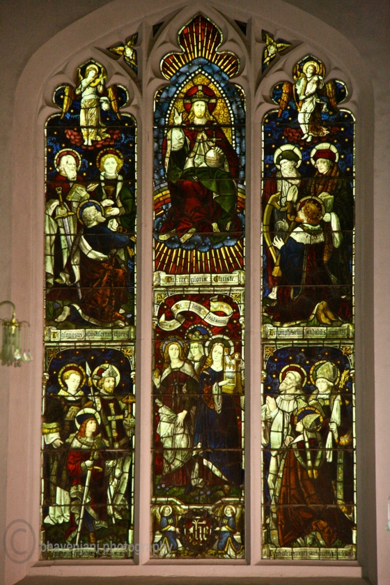 Stained glass windows of Christ church