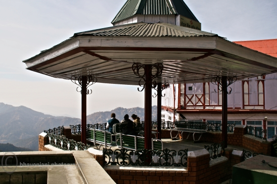 A view point on the Mall road in Shimla