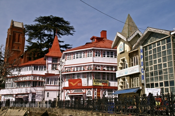 The India Post building on Mall road in Shimla