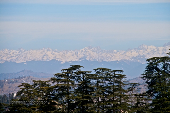 Snow-clad Himalayan mountain range