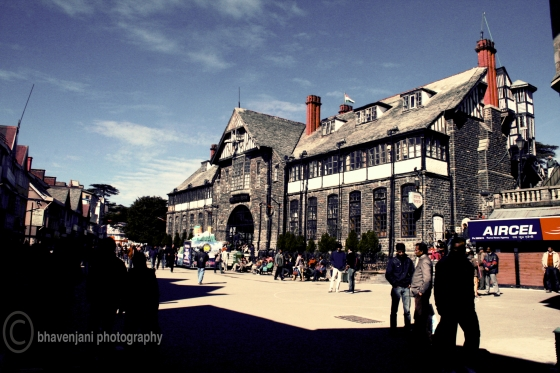 The municipal corporation building of Shimla