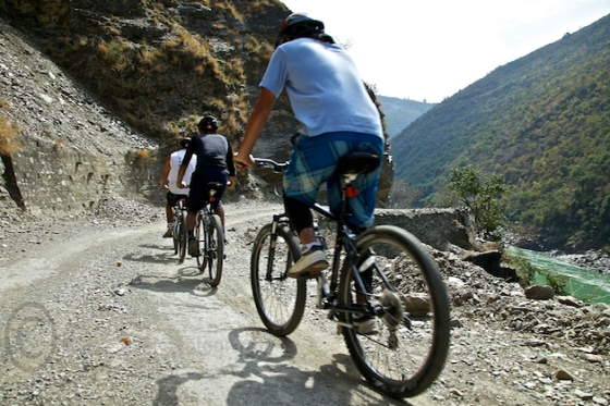 Mountain biking through the Himalayas