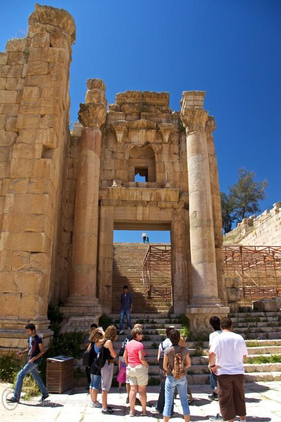 Entrance to the Temple of Artemis at Jarash, Jordan
