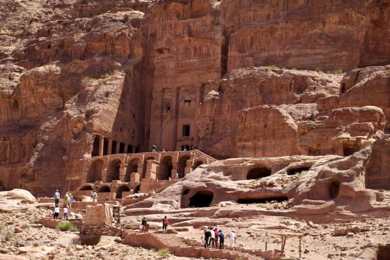 Petra is full of man made caves and tombs spread across several hundred kilometers area