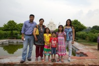 With friends and family in Agra