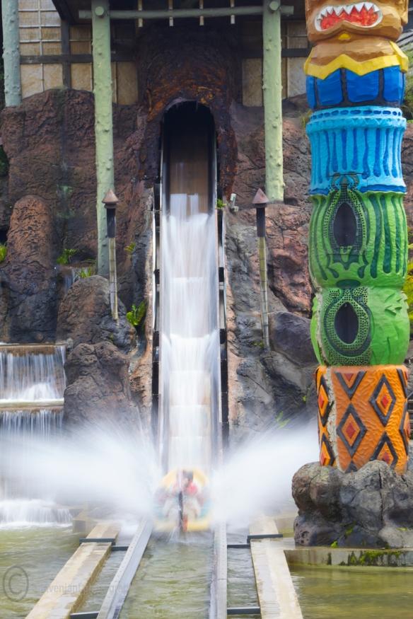 Getting a splash at Leofoo Village, Taiwan