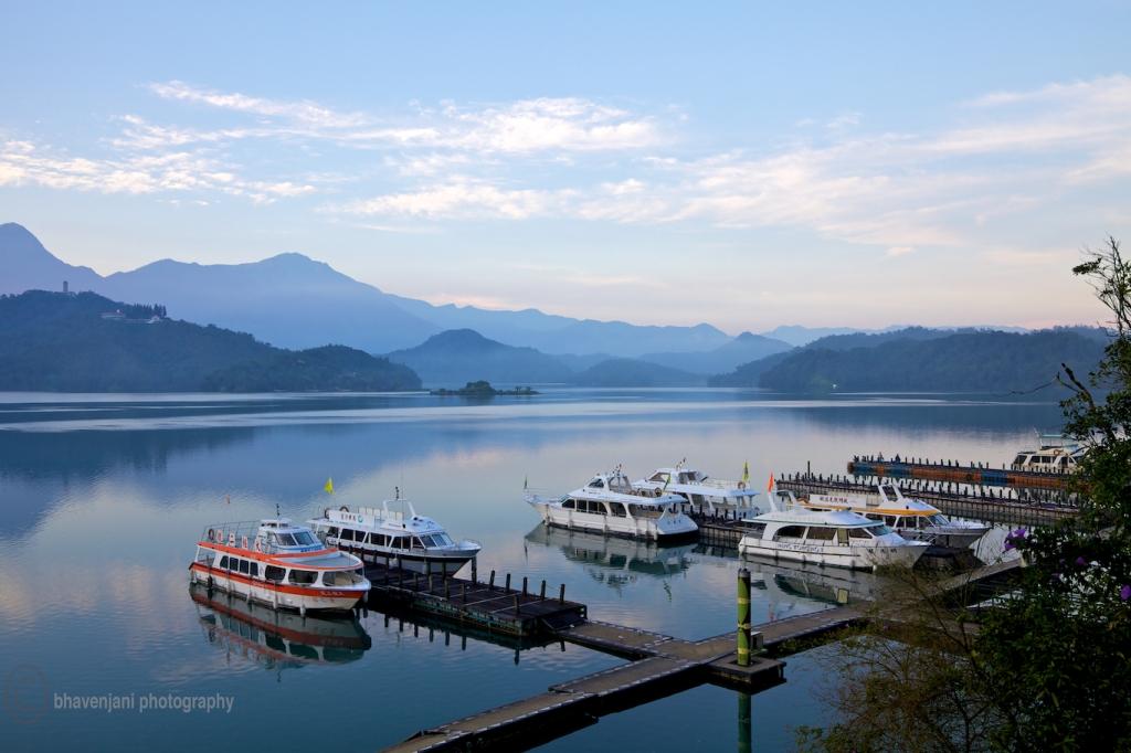 Morning view of the Sun Moon Lake, Taiwan