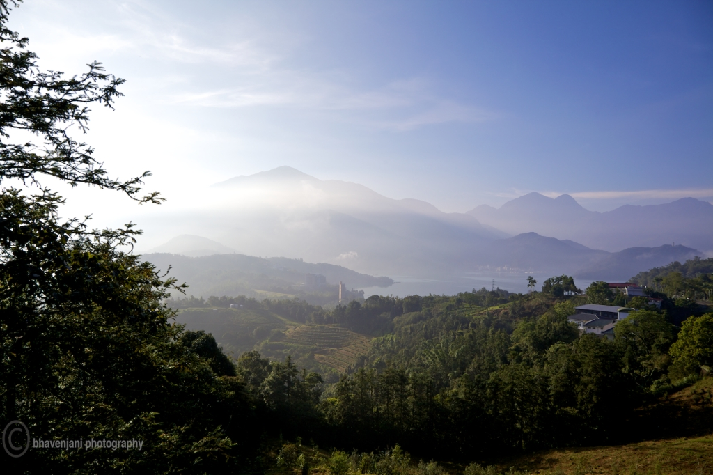 View of the hills from atop the Maolan hiking trail at SML, Taiwan