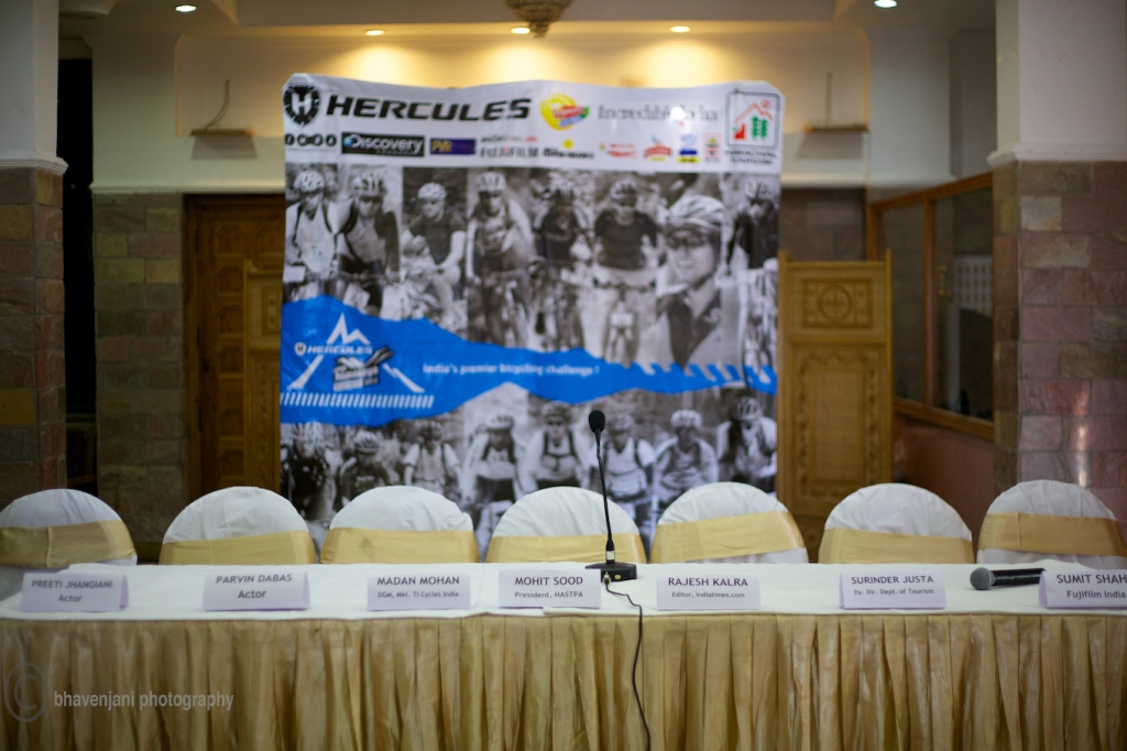The list of distinguished speakers at the press conference of the MTB Himalaya event