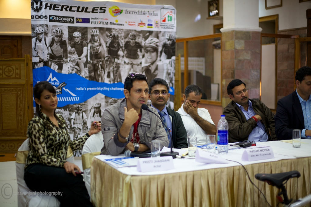 Parvin Dabas shares his experiences at the press conference of MTB Himalaya event