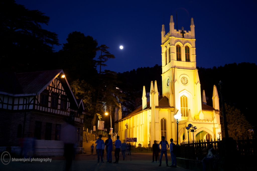 Christ church, the venue of the flag off of the MTB Himalaya 2012 edition, next morning