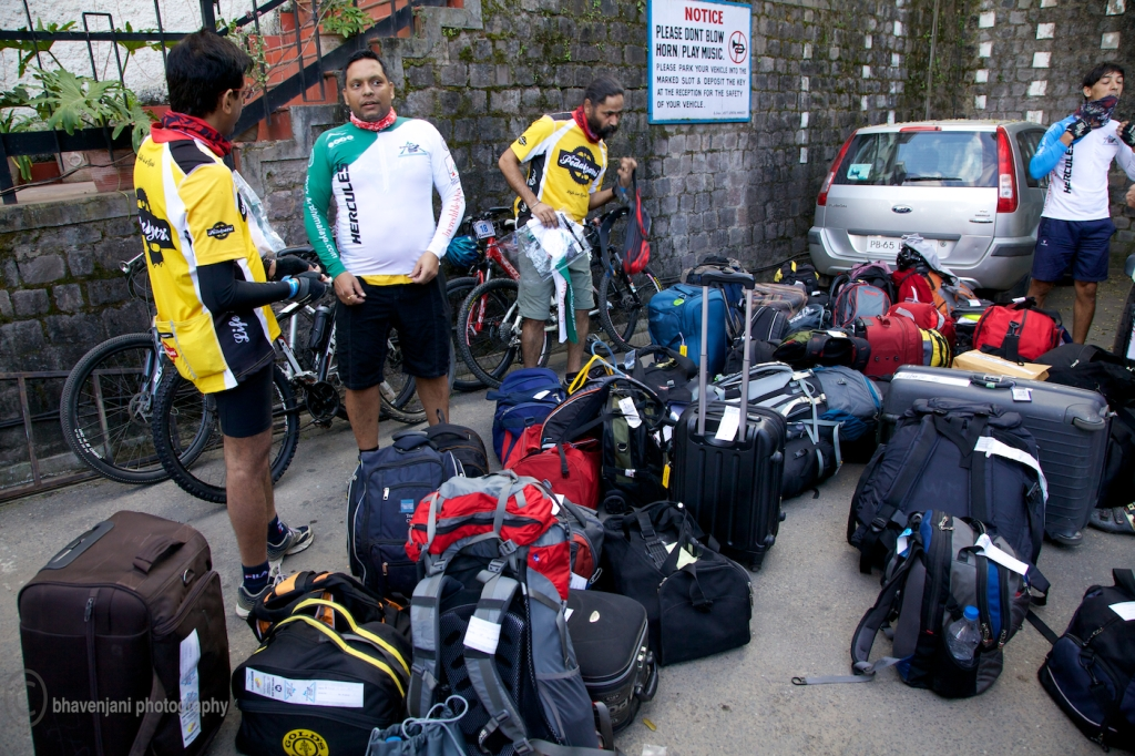 Participants pack their luggage, ready for the long haul