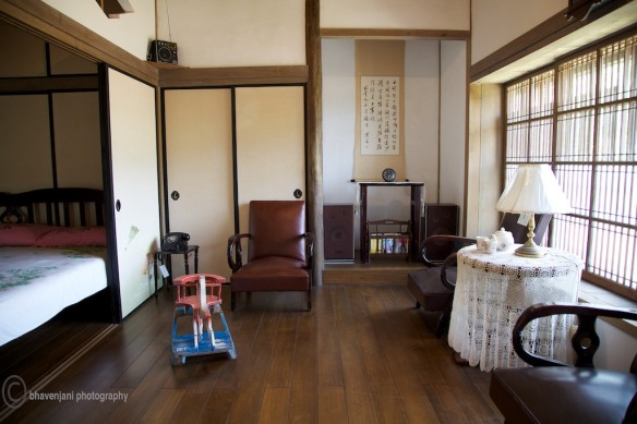 A Japanese house on display at the Jingquashi mining park